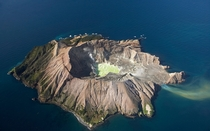 White Island used to house a sulphur mining operation until part of the crater collapsed killing  workers in   Photo by David Wall x-post rNZphotos