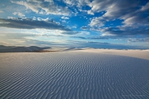 White Sands in New Mexico by Ronald M
