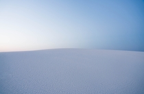 White Sands National Monument as the sun is fading away behind me
