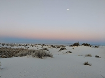 White Sands National Park Under Moon Light