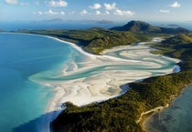 Whitehaven Beach and Whitsunday Island of the Great Barrier Reef Australia   Gerhard Zwerger-Schoner
