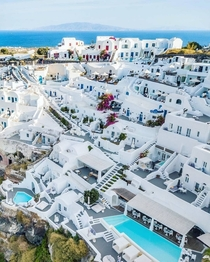 Whitewashed houses in Santorini Island GREECE