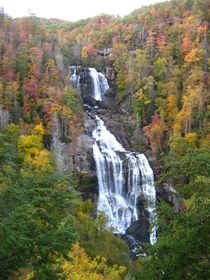 Whitewater Falls North Carolina in its fall splendor