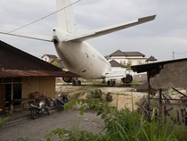 Why is this old Boeing  there in Bali Indonesia