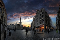 Wide angle of Brussels Belgium