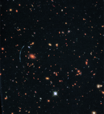 Wide Field Image of Galaxy Cluster SDSS J
