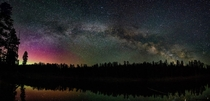 Widefield Milky Way and maybe the Aurora over Magone Lake OR