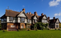 Wightwick Manor - West Midlands England UK - Built in  by architect Edward Ould for Theodore Mander - One of only a few surviving examples of the Aesthetic movement and Arts and Crafts movement - A grand version of the half-timbered vernacular style - Don
