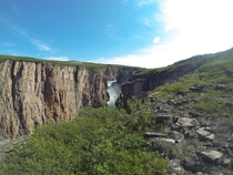 Wilberforce Falls on the Hood River Nunavut Canada