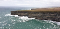 Wild cliffs of the wild Atlantic way Co Mayo Ireland  OC