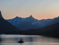 Wild Goose Island at Sunset- Glacier National Park Montana USA OC x