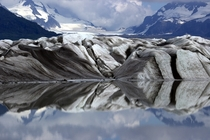 Wild patterns and reflection of the Sheridan Glacier in Alaska  Photo by Joe Morris