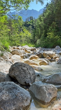 Wild stream in Austrian Alps