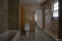 Wild Wallpaper amp Tiles Inside a Vacant Mansion in Toronto Ontario