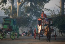 Wild west carriages in  Pyin U Lwin Myanmar