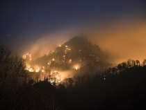 Wildfire in the Great Smoky Mountains