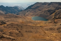 Wildhorse lake hidden at the top of Steens Mountain Oregon