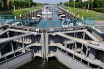 Wilhelmina Locks in the river Meuse Netherlands