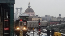 Williamsburg Bridge From the Marcy Av Subway Stop - Brooklyn NY