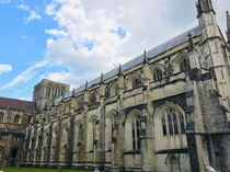 Winchester Cathedral United Kingdom Greatest overall length of any gothic cathedral