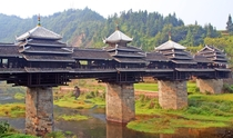 Wind and Rain Bridge - Chengyang Yongji Bridge Photo Gill Penney