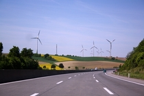 Wind turbines at the Autobahn A
