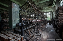 Winding machines at abandoned but maintained silk mill