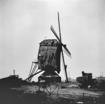 Windmill on the brink of collapse