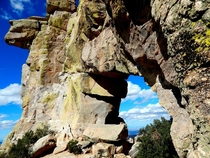Window Arch a  foot tall granite arch standing guard over Tucson Az OC