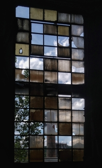 Window in a hall of the formerly abandoned steel factory Vlklinger Htte a UNESCO heritage nowadays