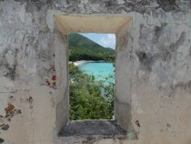 Window View from th Century Danish Mansion- Virgin Islands