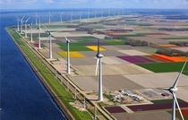 Windpark Noordoostpolder in Netherlands