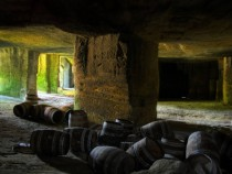 Wine Barrels under Bordeaux
