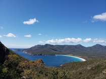 Wineglass Bay lookout Freycinet National Park Tasmania