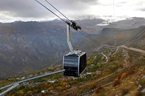 Wings of Tatev Armenian   is  km This is the longest non-stop double track cable car This cable car connects the town of Tatev to a beautiful ancient th century Armenian monastery on the edge of a cliff