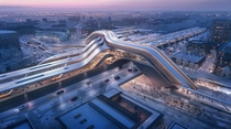 Winning design for the new rail terminal in Tallinn Estonia