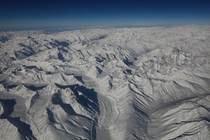 Winter Aerial View Of The Massive Himalayas in Ladakh Exact Spot from where the picture is taken Mountain of Stok Kangri in Ladakh Jammu amp Kashmir in India