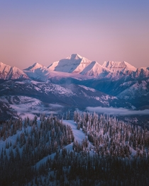 Winter Alpenglow - Montana  IG petenathanson