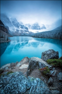 Winter approaching Moraine Lake Banff National Park  by Dani Lefrancois