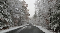Winter begins in Muskoka Canada near Algonquin Park