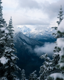 Winter came early in the North Cascades WA