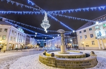 Winter decorations in Tartu Estonia