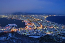 Winter evening in Hakodate Japan