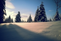 Winter finally arrived Black Forest Germany
