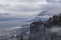 Winter has arrived at the Columbia River Gorge