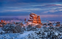 Winter in Arches National Park Utah   by B Praagh