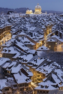 Winter in Bern Switzerland