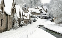 Winter in Bibury England