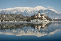 Winter in Bled Slovenia