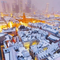 Winter in Frankfurt Germany